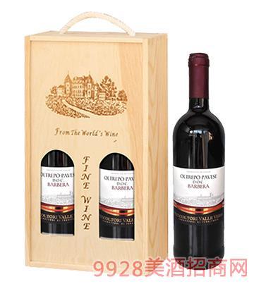 意大利卡内托巴贝拉干红葡萄酒12度750ml