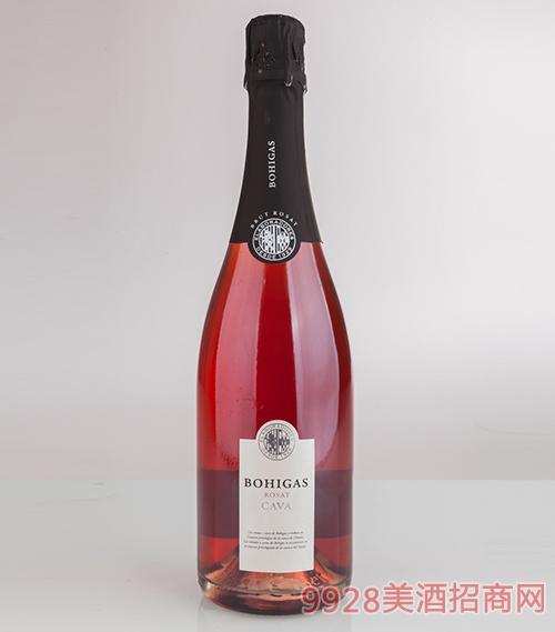波依加斯陈酿起泡酒天然型12度750ml
