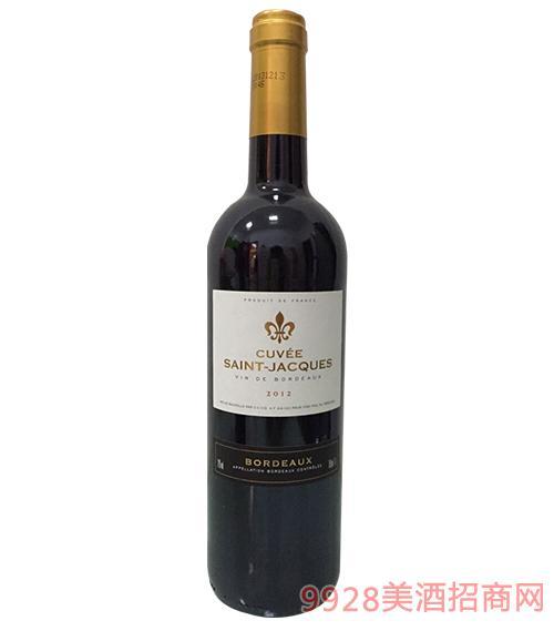 法国圣雅克特酿干红葡萄酒12度750ml