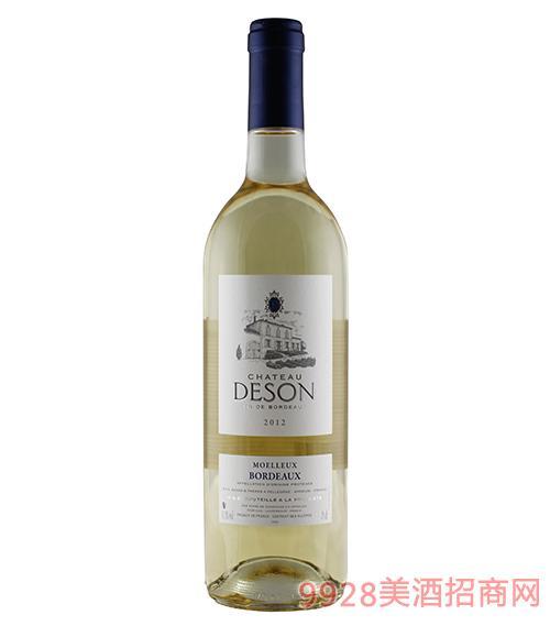 法国迪仙酒庄甜白葡萄酒11.5度750ml