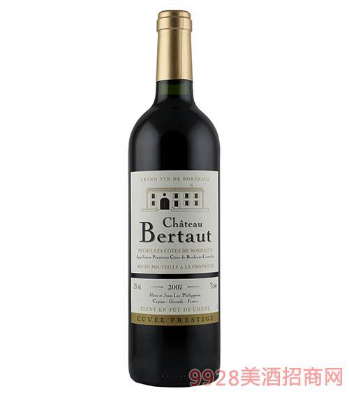法国百图城堡精选干红葡萄酒12度750ml