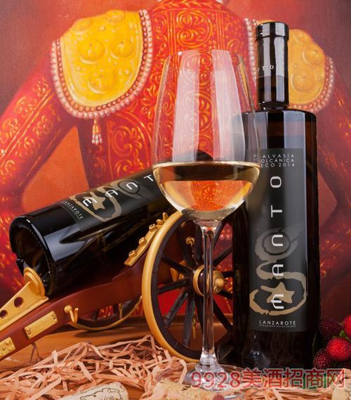 蔓多火山马尔瓦西亚干白葡萄酒13度750ml