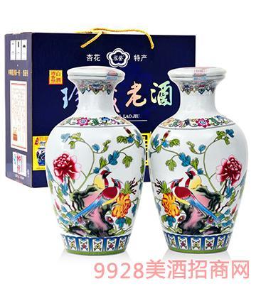 53度凤戏牡丹酒1.5Lx2