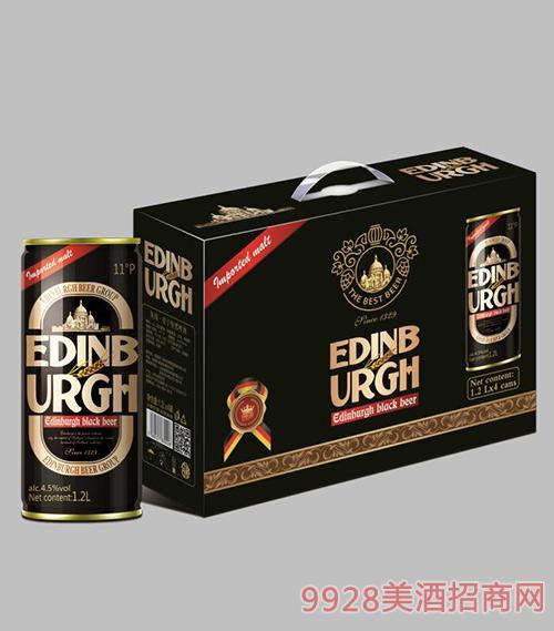爱丁堡啤酒黑啤11°P1.2L