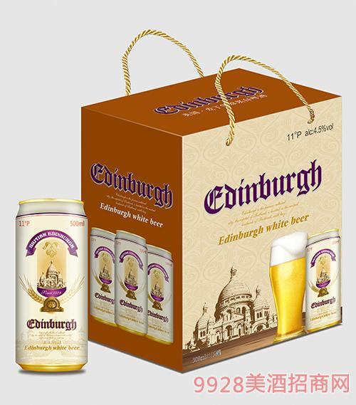 爱丁堡啤酒原浆白啤500mlx12