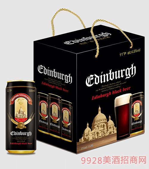 爱丁堡啤酒黑啤500mlx12