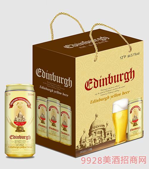 爱丁堡啤酒黄啤500mlx12