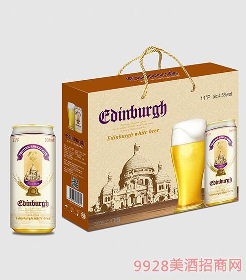 爱丁堡啤酒原浆白啤500mlx10