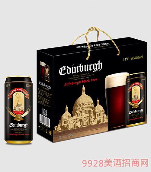 爱丁堡啤酒黑啤500mlx10