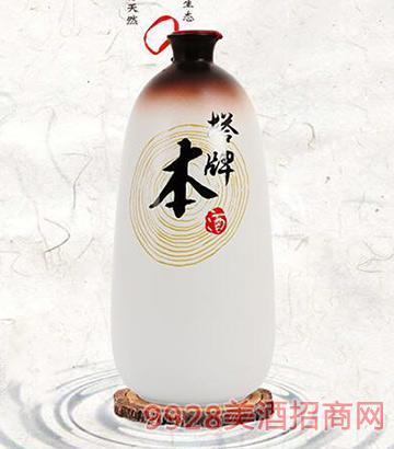 绍兴黄酒塔牌本酒1L无焦糖色的手工酿糯米黄酒礼盒装