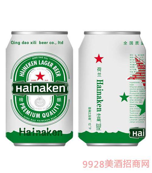 荷兰喜力啤酒精酿啤酒12°P330ml