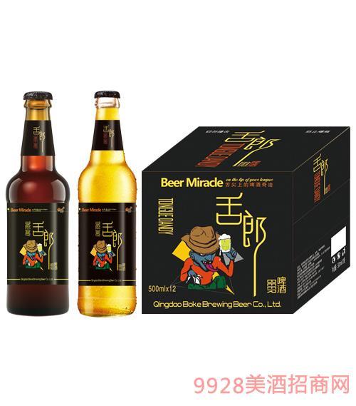 瓶装舌郎啤酒500mlx12