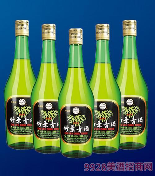 黄盖汾酒竹叶青酒裸瓶45度475mlx12清香型白酒