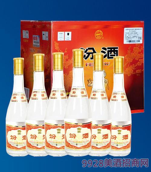 黄盖汾酒裸瓶53度475mlx12清香型白酒