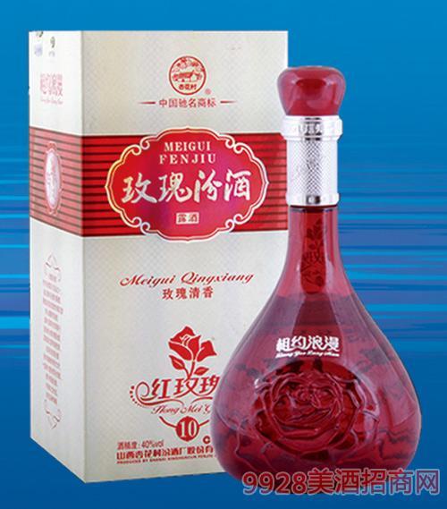 玫瑰汾酒十年42度500mlx6清香型露酒