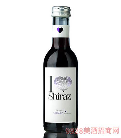 爱嗨187ml西拉红葡萄酒11.5度