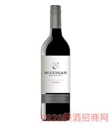 麦格根西拉子干红葡萄酒2012