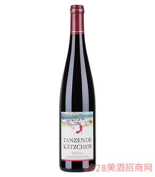 跳舞小猫红葡萄酒