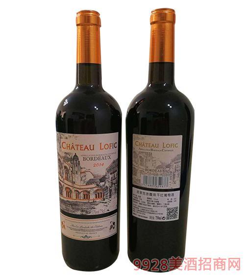 法国洛菲克赤霞珠干红葡萄酒750ml