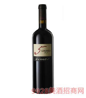 利貝拉利亞5號陳釀干紅葡萄酒2004-15度750ml