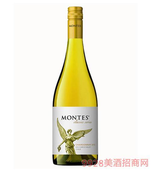 蒙特斯经典莎当妮干白葡萄酒13.5度