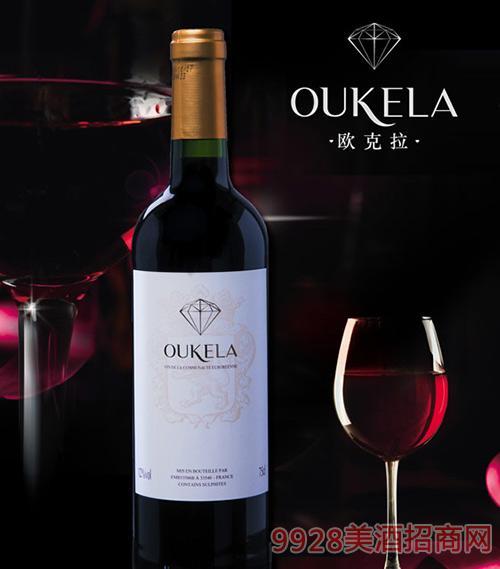 OUKELA欧克拉赤丹混酿干红葡萄酒