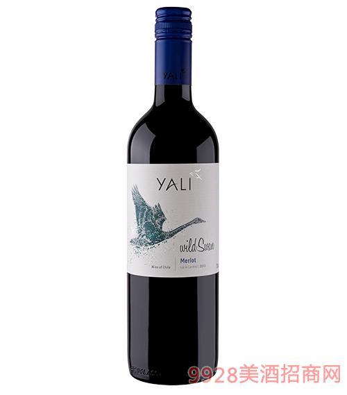 智利野天鹅美乐干红葡萄酒13度750ml