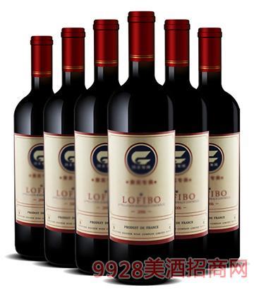 隆斐堡法国进口橡木桶窖藏干红葡萄酒750ml