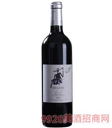 伊莲娜西拉红葡萄酒13度750ml