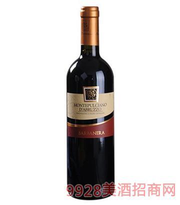 巴内拉干红葡萄酒13度750ml