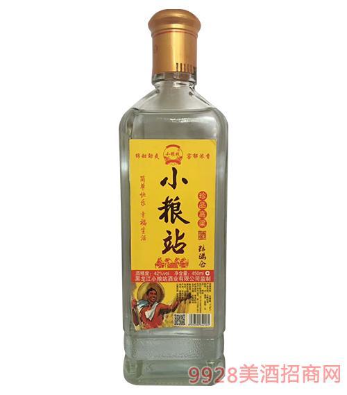 小粮站珍品高粱酒42度450ml