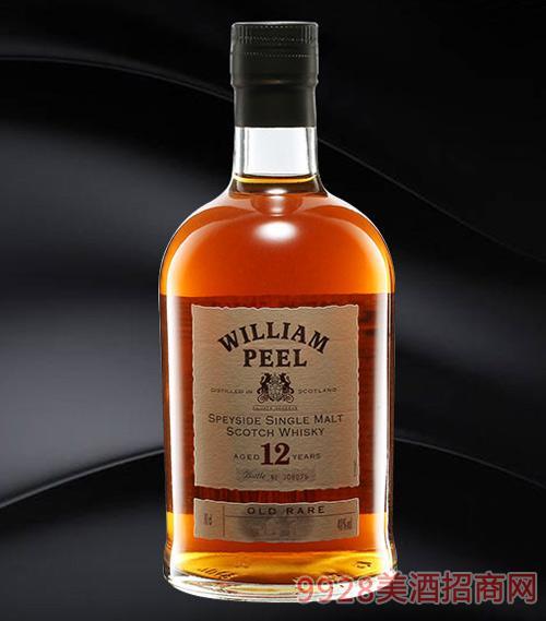 威廉姆12年单一麦芽威士忌40%700ml