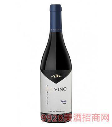 双生薇诺珍藏西拉红葡萄酒750ml