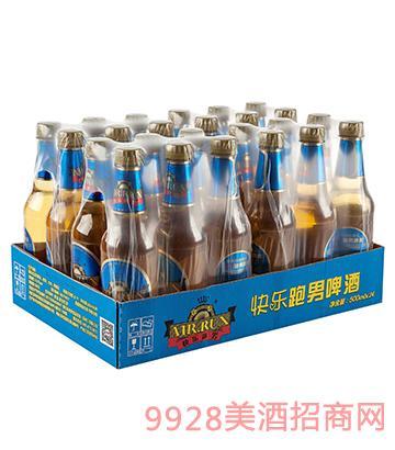 快乐跑男啤酒箱装3.1度500mlx24