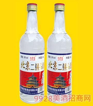 二锅头酒烫金标(白瓶)