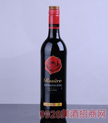 情人堡丹菲特半干红葡萄酒图片
