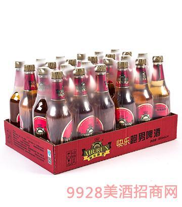 快乐跑男醇厚啤酒660mlx24瓶装