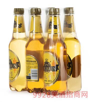 快乐跑男纯生啤酒500mlx6瓶装