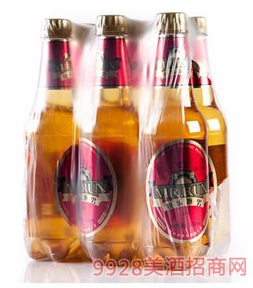 快乐跑男醇厚啤酒500mlx6瓶装