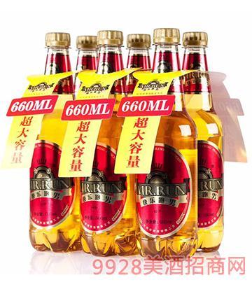 快乐跑男醇厚啤酒660mlx6瓶装