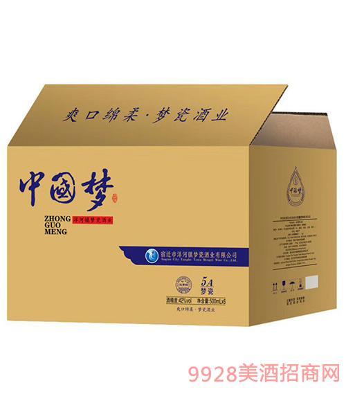 中国梦酒5A梦瓷(箱)42度500mlx6
