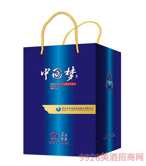 中国梦酒5A梦瓷礼盒42度500mlx6