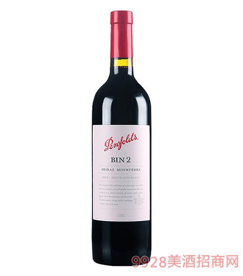 澳大利亚奔富BIN2设拉子慕合怀特红葡萄酒