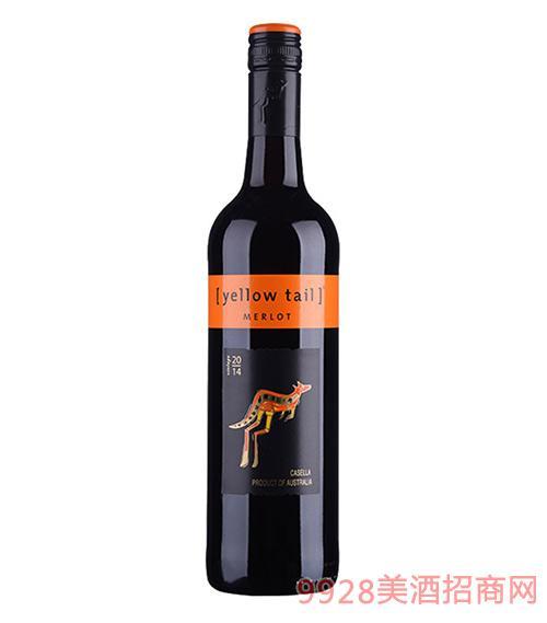 澳大利亚黄尾袋鼠美乐红葡萄酒