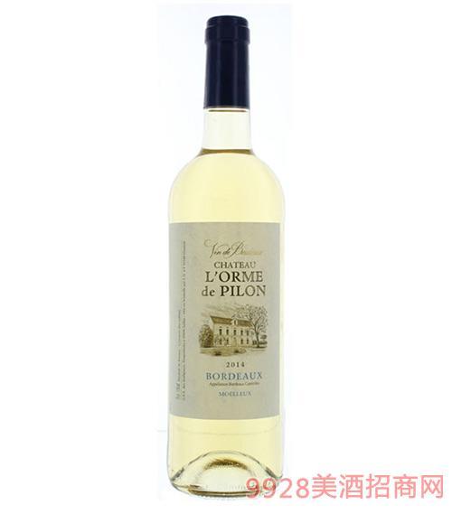 法国榆树甜白葡萄酒