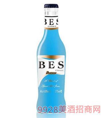 倍爽鸡尾酒蓝玫瑰味4.8度275ml