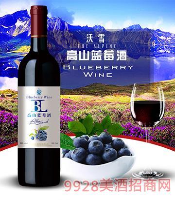 沃雪高山蓝莓酒18度750ml