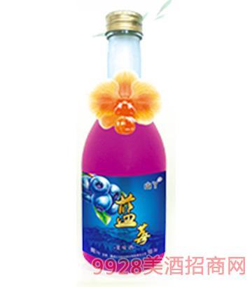 山丫野果酒蓝莓4度350ml