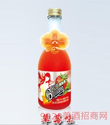 倍爽水果酒草莓味4度350ml