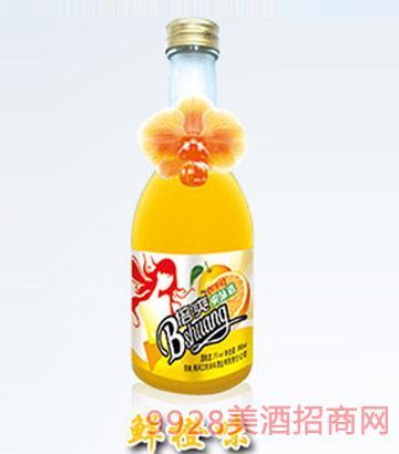 倍爽水果酒鲜橙味4度350ml